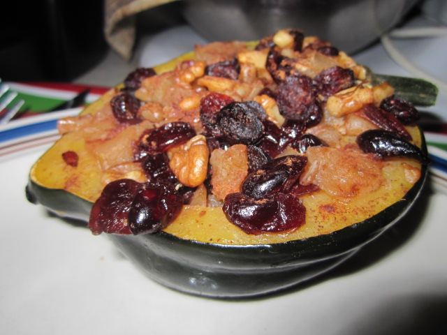 Acorn squash and fruit, cooked.JPG