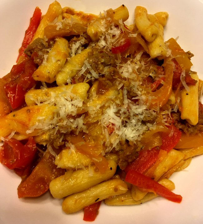 Name:  cavatelli_sausage_peppers_tomato_072419_IMG_6045.JPG Views: 128 Size:  117.7 KB