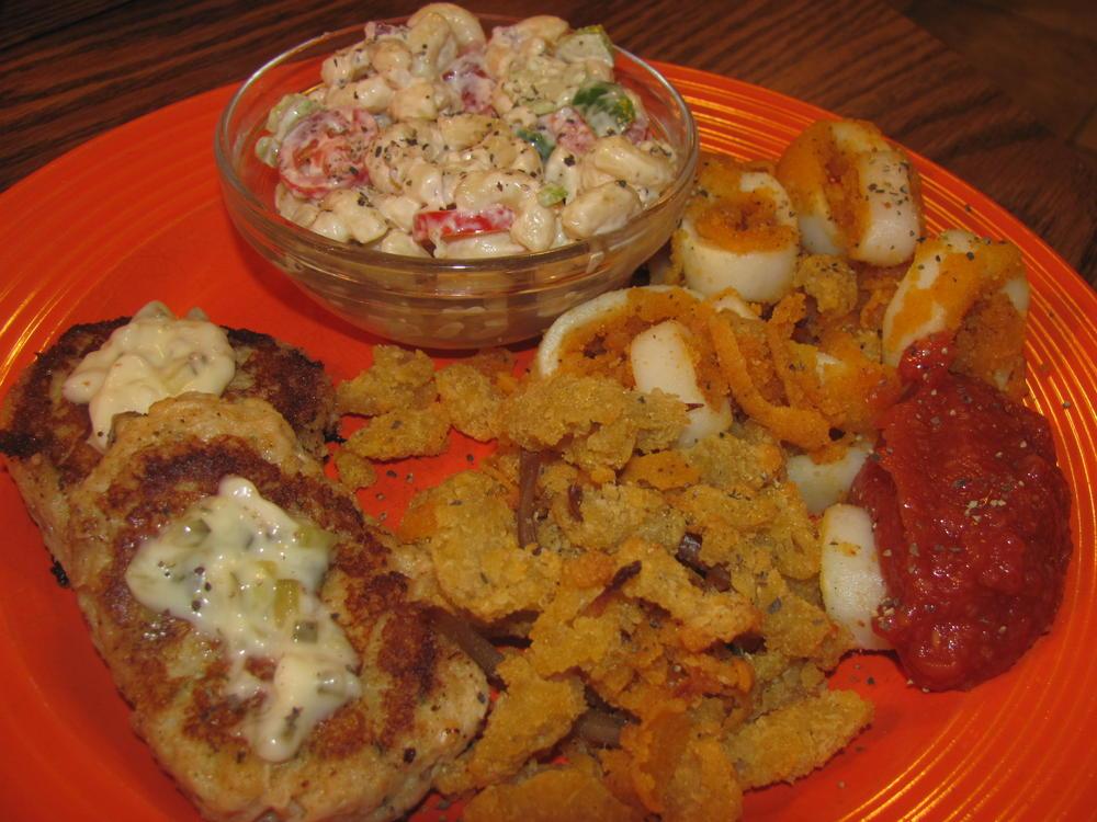 Name:  Crab Cakes, Clam Strips, Calamari Rings.jpg Views: 72 Size:  115.5 KB