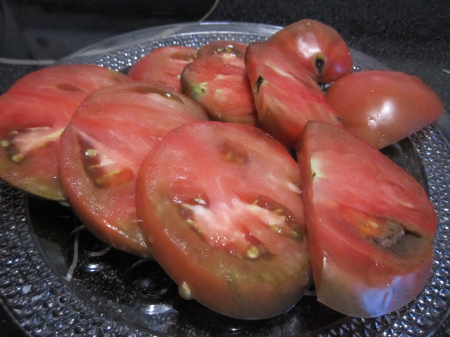 Name:  First Cherokee Purple tomato.JPG