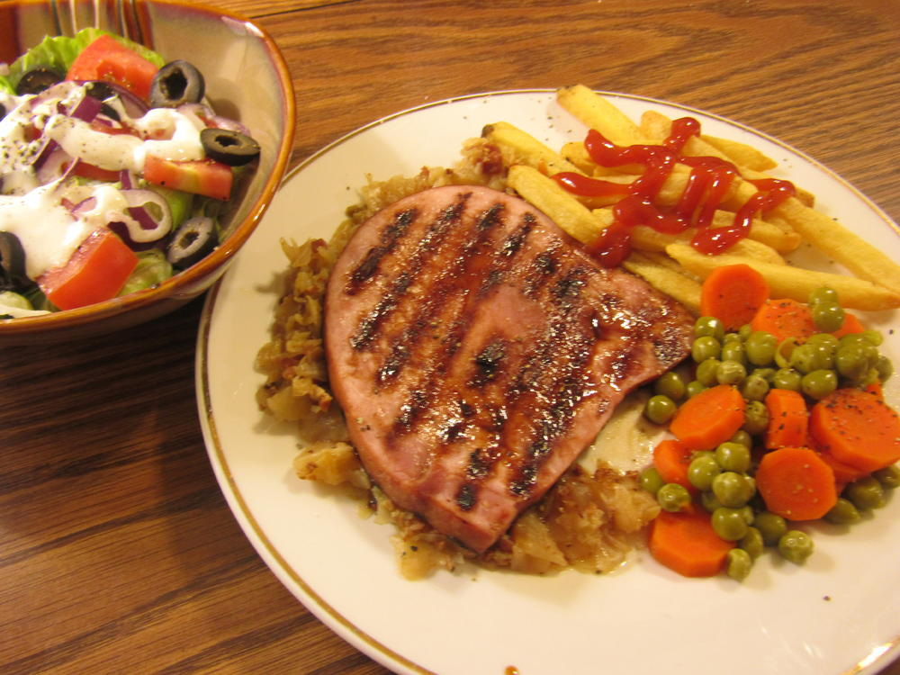Name:  Ham Steak, Grilled, Cabbage.jpg