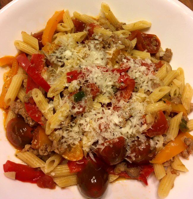 Name:  pasta_sausage_peppers_100119_IMG_6297.jpg Views: 116 Size:  117.4 KB