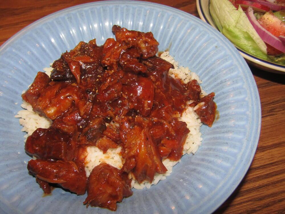 Name:  Pork BBQ, Shredded, over White Rice.jpg Views: 58 Size:  127.1 KB