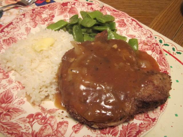 Pork Chops Majestic, plated.JPG