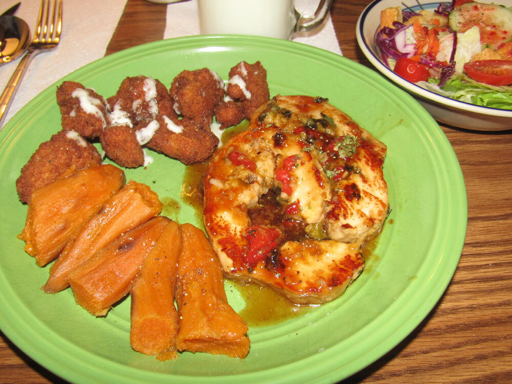 Name:  Pork Loin Roasr, Fried Cauliflower 1.jpg Views: 61 Size:  136.7 KB