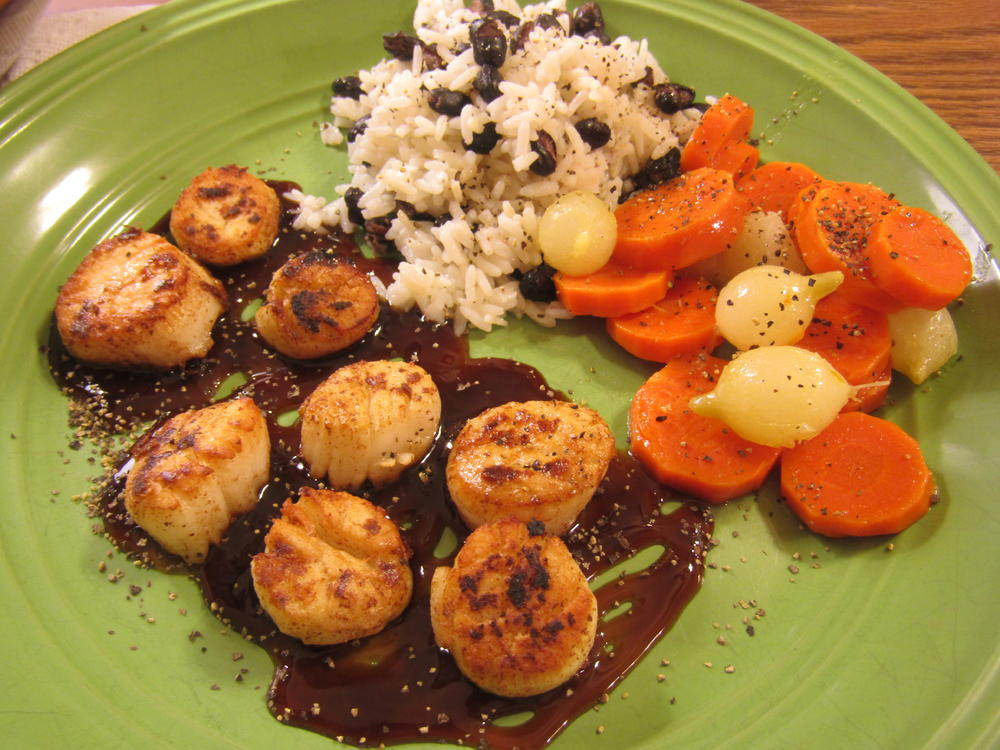 Name:  Scallops, Pan Seared, Teriyaki Sauce.jpg