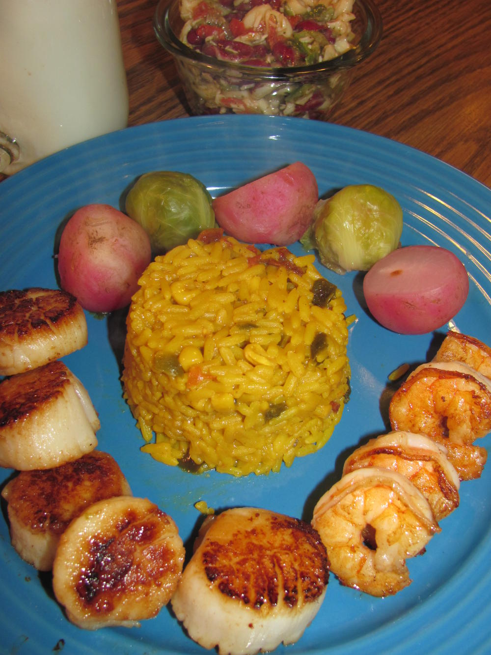 Name:  Shrimp $ Scallops, Fried, Mex Rice .jpg Views: 96 Size:  187.8 KB