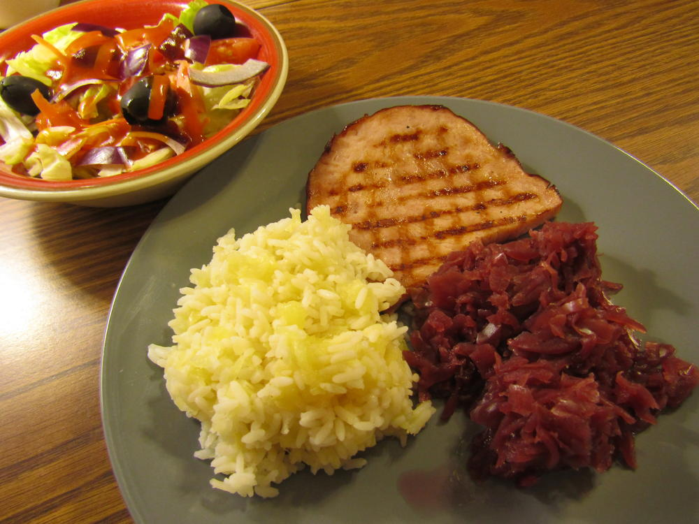 Name:  Tavern Ham, Pineapple Rice, Red Cabbage.jpg