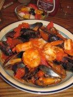 Mussels & Shrimps in Tomato. Garlic  .jpg