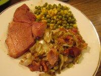 Ham Sreak, Skillet Cabbage.jpg